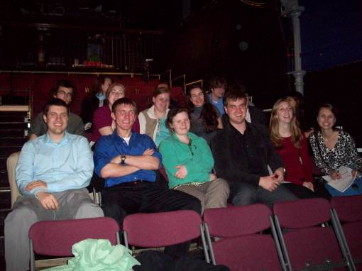The group at the Bridewell theater before the play.