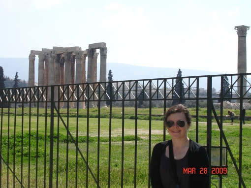 Ally outside the Temple of Olympian Zeus, started by Peisistatros in the 5th century, finished about 700 years later by the Roman emperor Hadrian.
