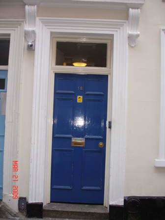 The door to our building at the hostel…you might not want to see the inside. (But don't worry, Mom and Dad, we're safe!)