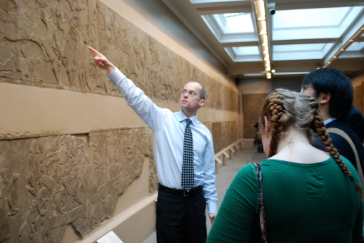 Dr. Collins explains the iconography of Assyrian reliefs.