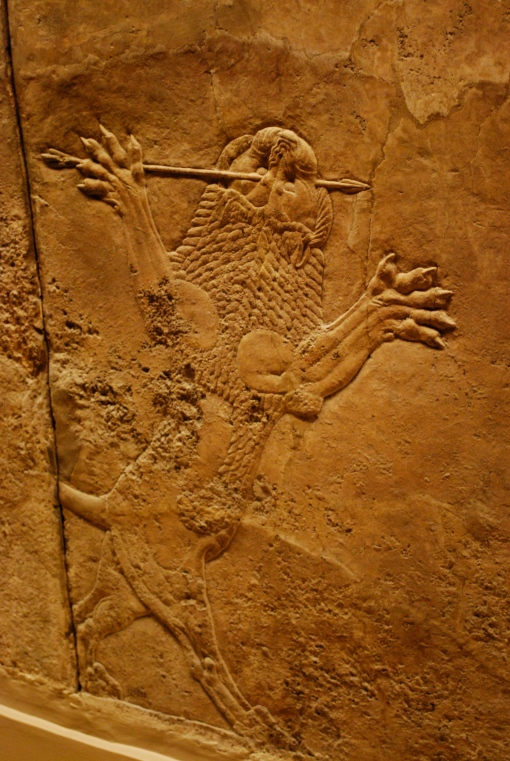 The perpetually doomed Assyrian lion, victim of the great hunting skills of the king.