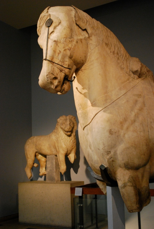 Lion and Horse from the Mausoleum at Halicarnassus