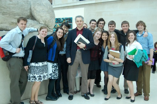 An ecstatic FSP group poses with their Fearless Leader.