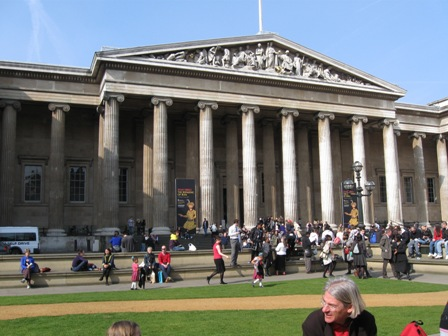 The facade of the British Museum, a classical citation in and of itself.