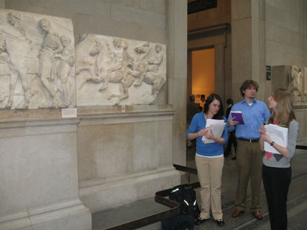 Jason and Joe presenting one of the south metopes of the Parthenon.