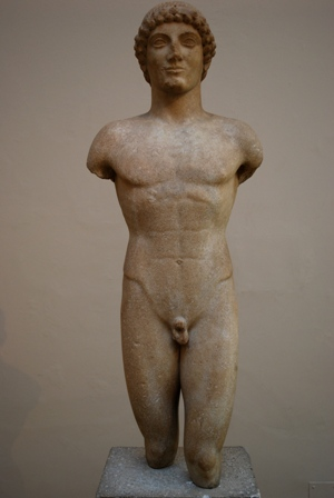 The Strangford Apollo, an exemplar of the Greek kouros.