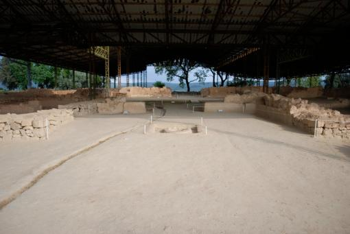 "View of the ""palace"" at Pylos."