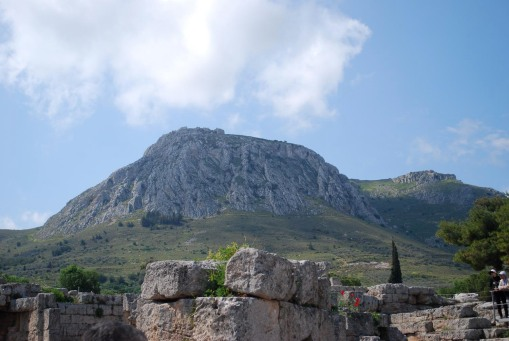 Acrocorinth - promoted to rocky citadel after a millions-of-years-long career as an island jutting out of the sea