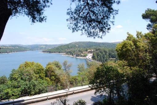 Scenic vista at Marathon Lake.