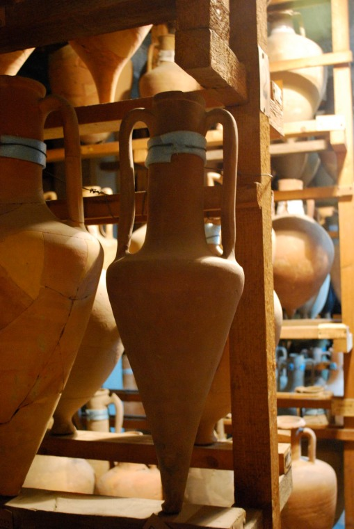 Transport amphorae aplenty in the basement storerooms of the Stoa of Attalos.