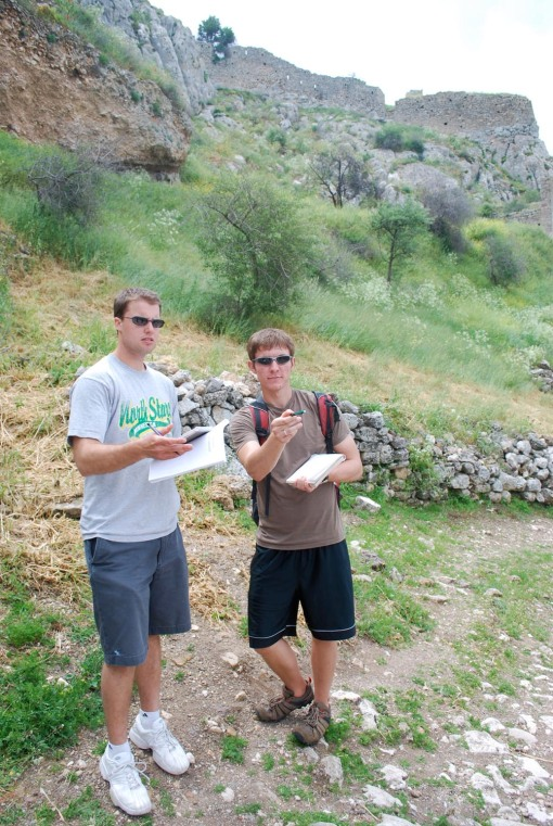 Chris and Joe discuss construction phases and defensive features at Acrocorinth.