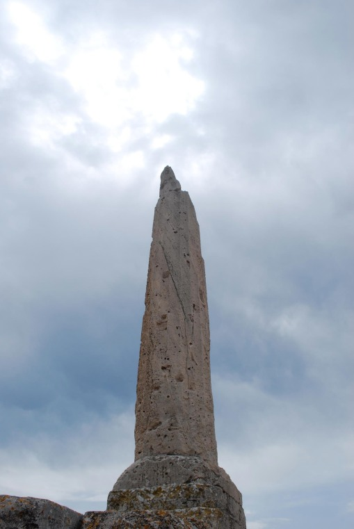 The single standing column from the temple of Apollo at Aegina, for which the site of Kolonna was named.