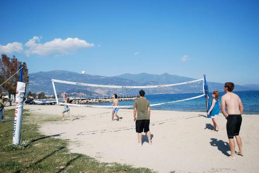 Beach volleyball near Volos.