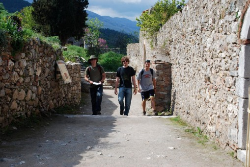 Joe, Alex A., and Ben have a ramble through the medieval streets.