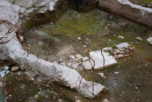 Urban archaeology rears its rebar-crested head in the Agora.