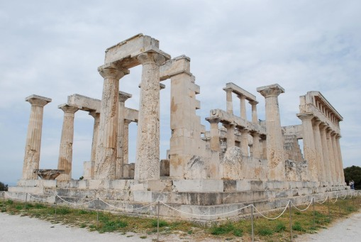 The striking temple of Aphaia at Aegina.