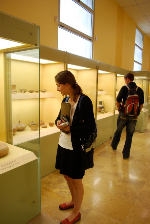 Kathryn and Joe in the Agora museum.