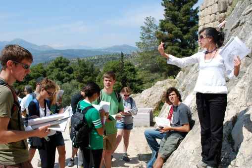 Prof. Faro introduces the group to their new friend, Mycenae.