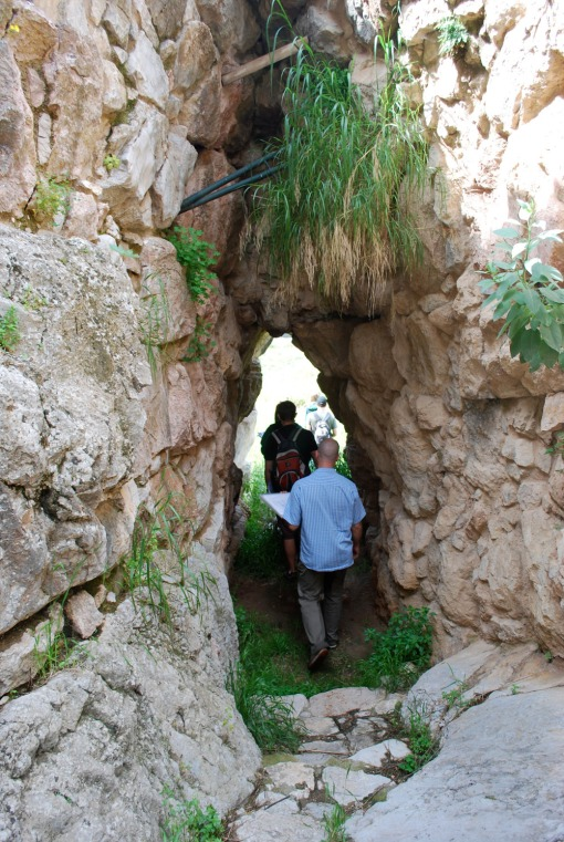 Exploring the postern gate at Tiryns