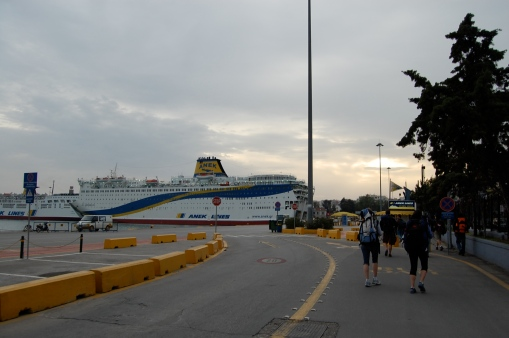 It might have taken a bus ride, a metro ride and a some serious walking to get there, but the FSP makes it to the Piraeus and set sails for Crete.
