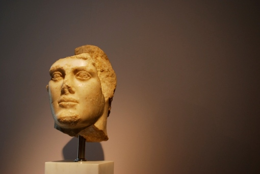 Head of a Classical fellow from ancient times.