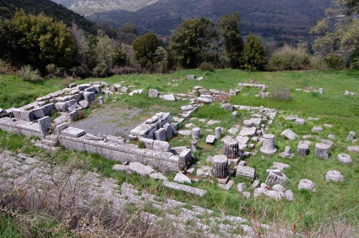 The temple of Despoina at Lykosoura.
