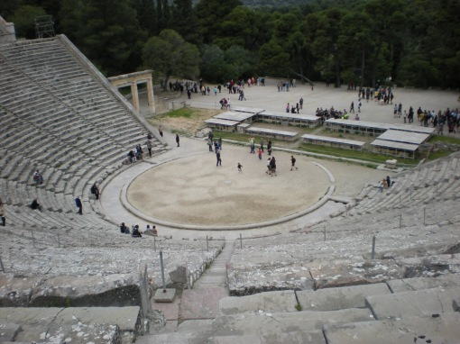 The ancient theater.