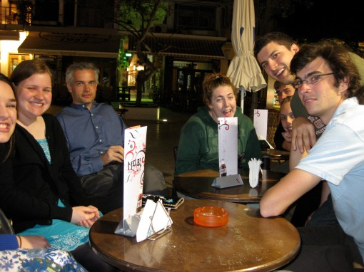 "An evening ""vaffel"" (waffle) outing in Herakleion with Prof. Christesen"