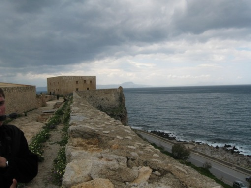 The Venetian ramparts at Rethymno