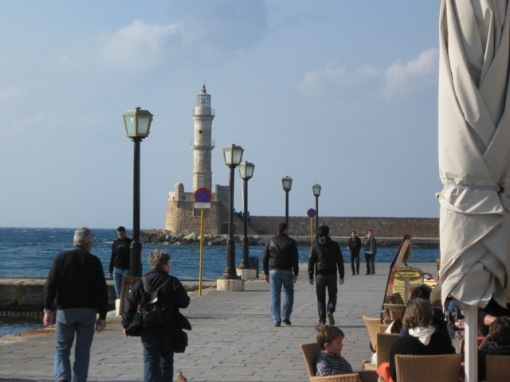 Picturesque waterfront at Chania.