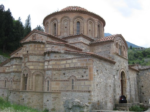 The Evangelistria church at Mistras.