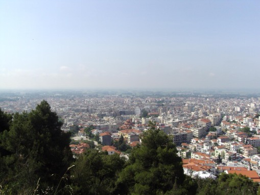 View of Serres from the kastro.