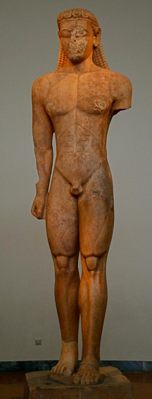 The kouros in question.