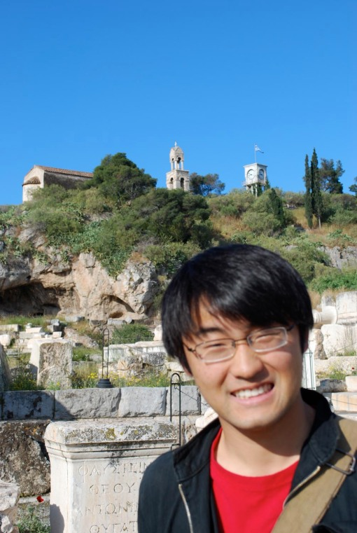 "Jerry gives us his best ""I love archaeology"" smile at Eleusis."