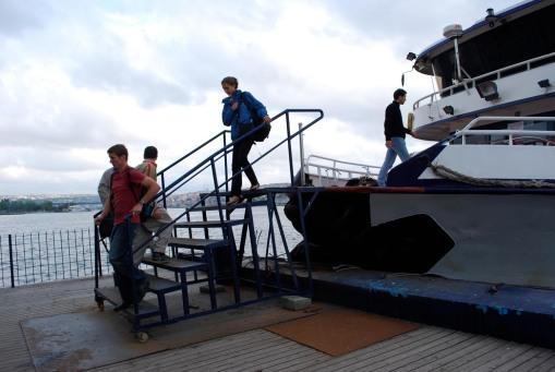 Disembarkation.