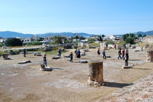 The unitiated invade the Telesterion at Eleusis.