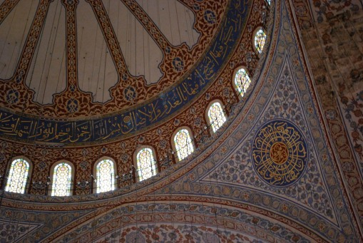 A pendentive in the Blue Mosque.