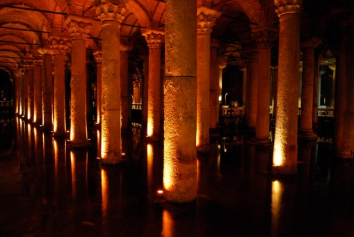 The Yeravatan Saray (a large cistern under the streets of Istanbul.