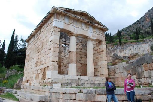 Alex A. and Dallis present the Athenian treasury.
