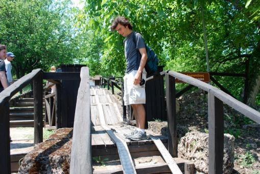 Jason admires the handicap accessible facilities at Mieza.