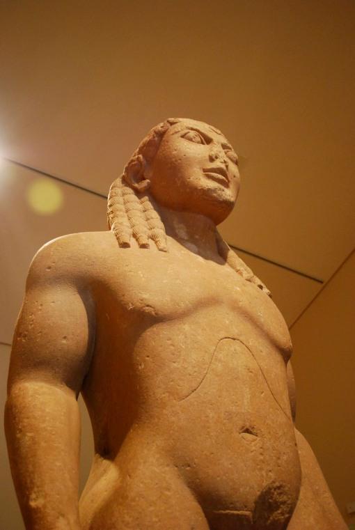 Kleobis (or Biton) in the Delphi museum.