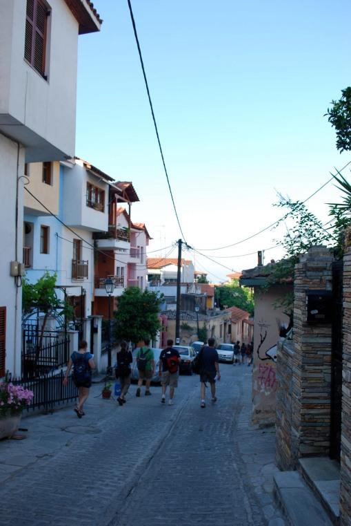 Walking through the old Turkish quarter.