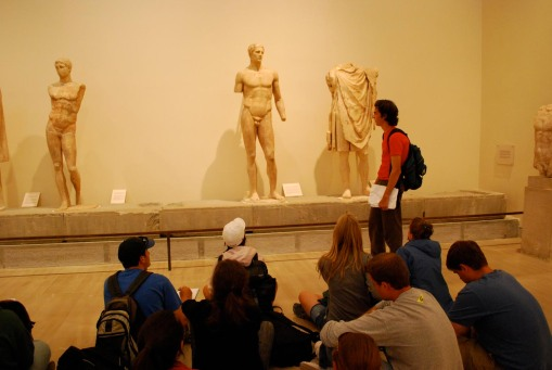 Jason gives the greatest lecture the Daochos monument has ever seen.