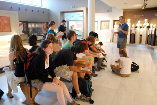 Lecture on Roman portraits at the Thessaloniki archaeological museum.