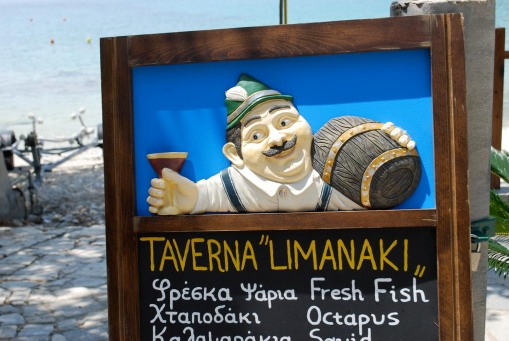 A beachside taverna offers up good cheer and octopus.