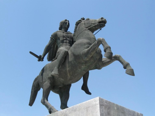 Alexander the Great, favorite son and waterside hood ornament of Macedonia.