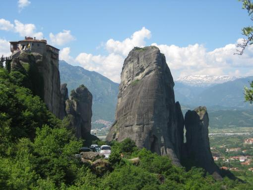 Natural grandeur and monasteries at Meteora.