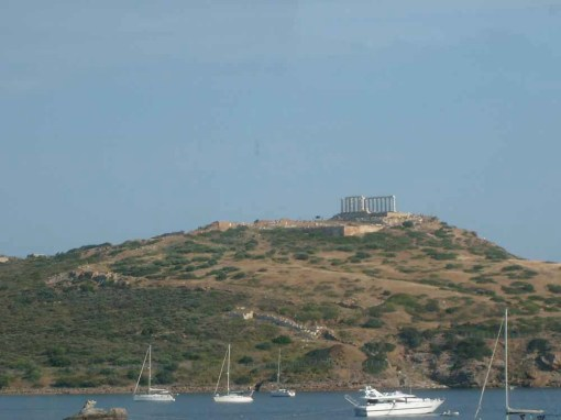 Temple of Poseidon at Sounion from a distance